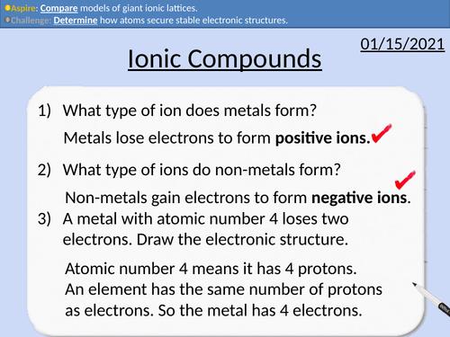GCSE Chemistry: Ionic Compounds