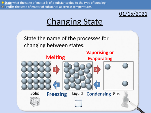 GCSE Chemistry: Changing State