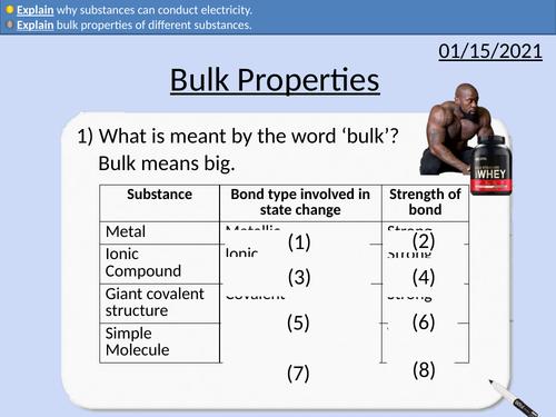 GCSE Chemistry: Bulk Properties