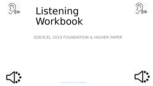 Developing listening skills  - PP and Student work book