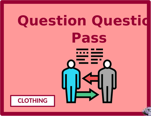 Clothing in English Question Question Pass Activity