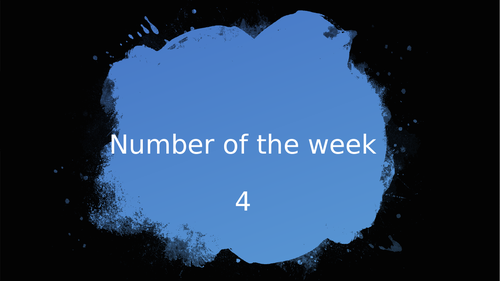 4 - Number of the week ppt