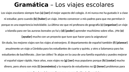 Edexcel International GCSE (9-1) Spanish - Grammar Question Practice for exam revision