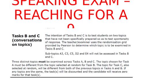 Edexcel International GCSE (9-1) Spanish - Tackling Tasks B & C - Sample sentences and practice