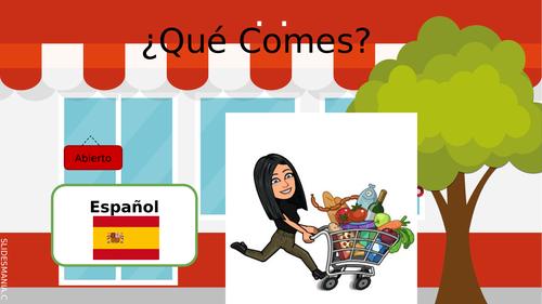 Qué comes  Spanish Sentence builder present