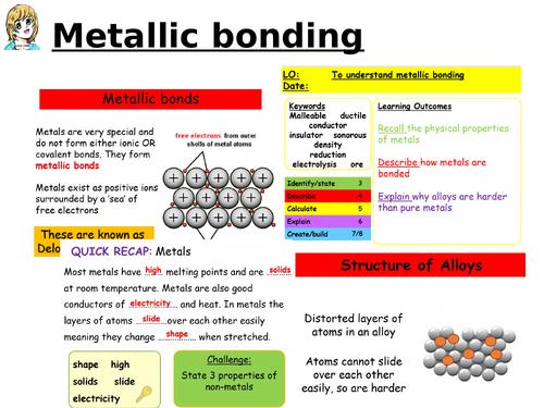 CC7c Properties of  metals