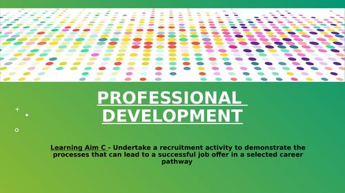 Unit 3 - Professional Development (Learning Aim C)