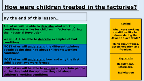 How were children treated during the Industrial Revolution?