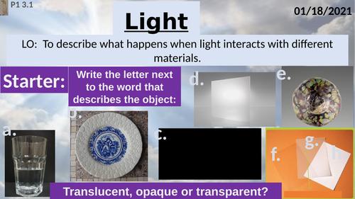 Activate 1: P1: 3.1 Light