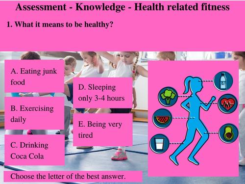 Grade 3 - Summative Assessment - Fitness Test
