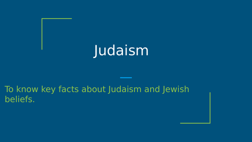 Key facts about Judaism and Jewish beliefs