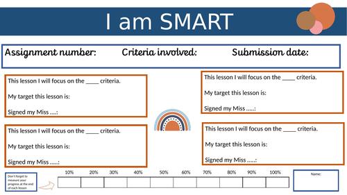 SMART target worksheet