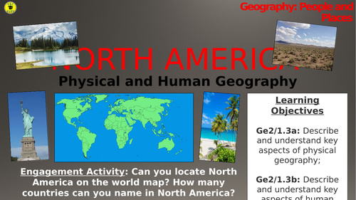North America: Physical and Human Geography (People and Places)
