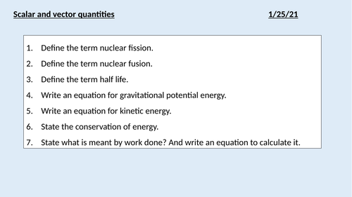 GCSE Physics (4.5.1.1) - Forces - Scalar and vectors  (4.5.1.2) Contact and non-contact forces (AQA)