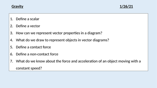 GCSE Physics (4.5.1.3) Forces - Gravity (AQA)