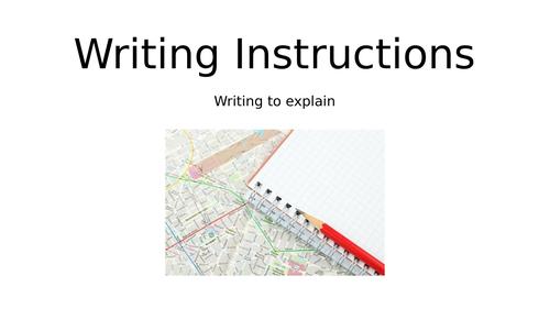 Instructional Writing- Writing Instructions