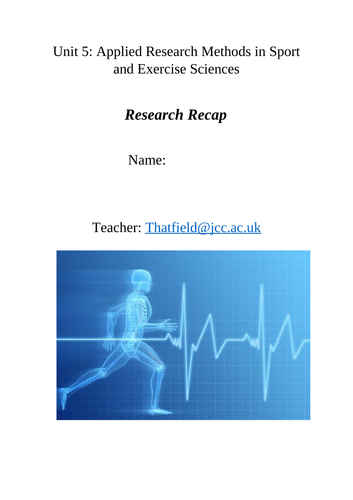 Unit 5: Research Project in Sport and Exercise Sciences