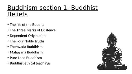 GCSE Buddhism Beliefs