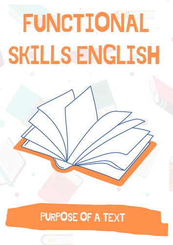 Functional Skills English - Different Purposes of a Text: 2X Tasks / Activities and Answers