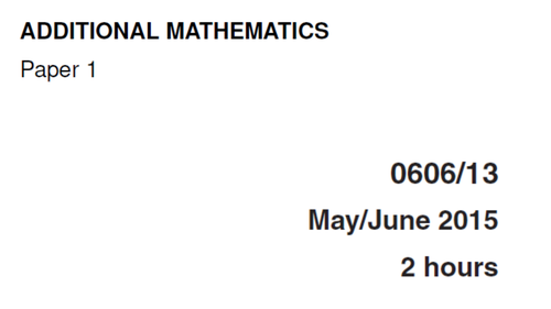 IGCSE-0606_JUNE 2015_QP13_Solutions