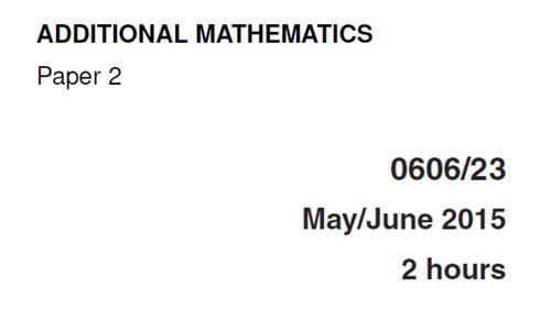 IGCSE-0606_JUNE 2015_QP23_Solutions