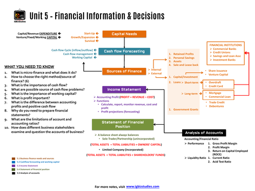 Unit 5 - Financial information and decisions