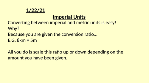 Metric/Imperial Conversion Full Lesson