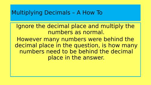 Multiplying Decimals Full Lesson
