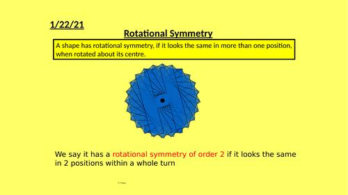 Rotational Symmetry Full Lesson