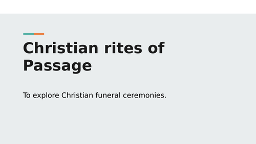 Christians funeral ceremony