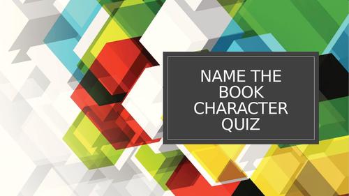 KS1 Quiz Book Characters