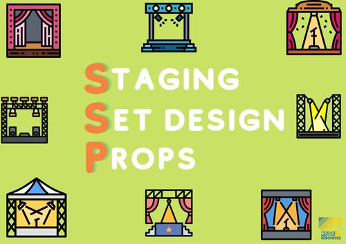 Drama Design Elements Posters (Using Mnemonics)