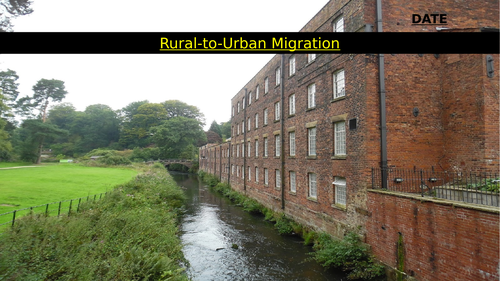 Remote Learning: Industrial Revolution Urban Migration