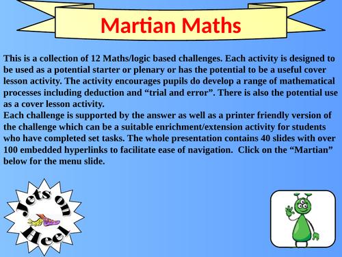 Martian Maths