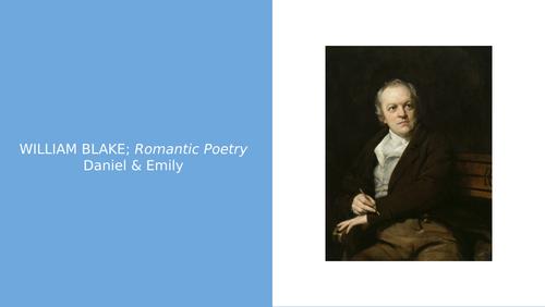William Blake powerpoint (Edexcel A-Level Eng Lit)