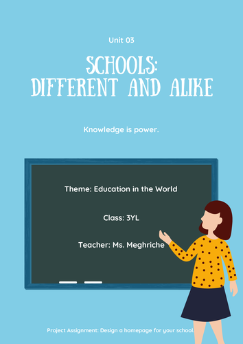 Unit: Schools: Different and Alike