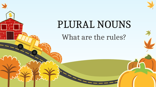Plural Nouns - Learning the Rules