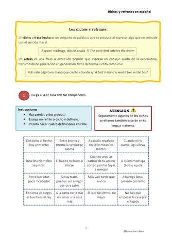 Dichos y refranes en español (spanish)