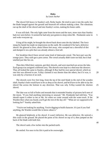 Year 7 English Practice Worksheet