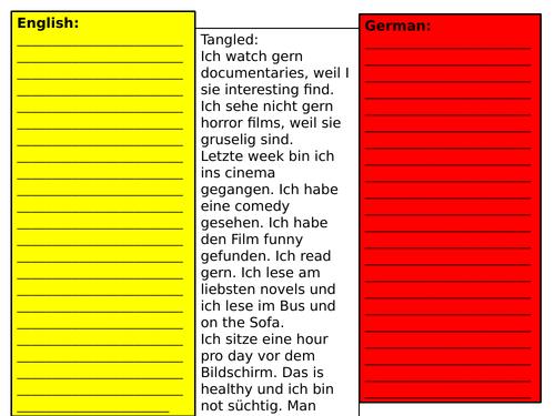 tangled translation stimmt 2 kapitel 2 - revision whole unit