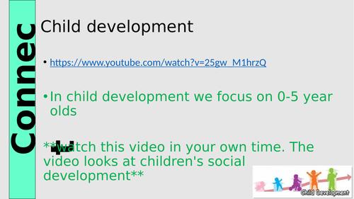 Btec Taster lessons for Options. Child Development/Health&Social