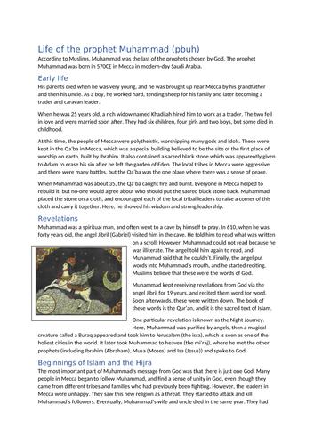Life of the Prophet Muhammad (pbuh)