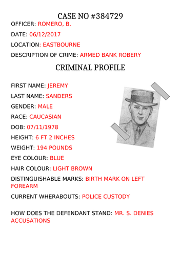 Criminal Psychology - case study