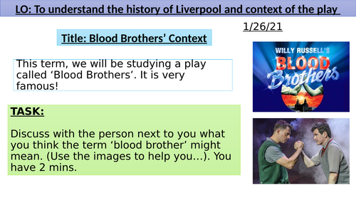 Blood Brothers Context lesson