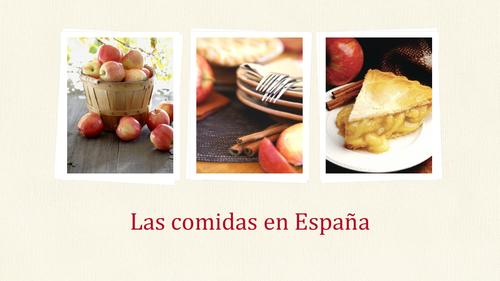 Las comidas españolas (spanish meals)