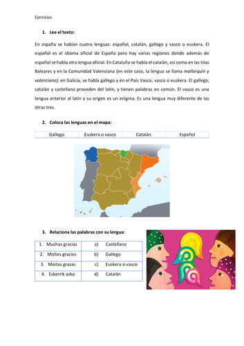 Comprensión lectora nivel A1 (spanish)