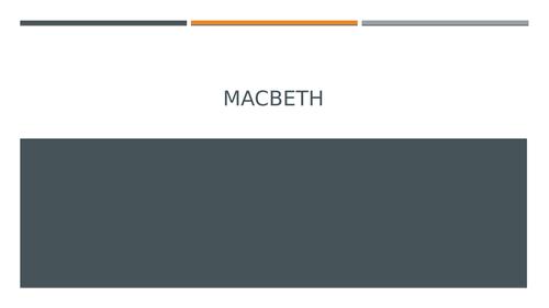 Macbeth: Remote Teaching 2