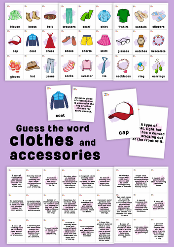Clothes. Guess the word game.