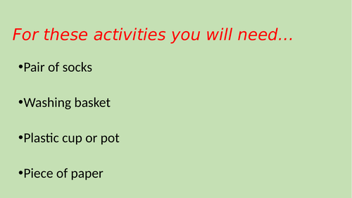 PE - Remote/Home Learning