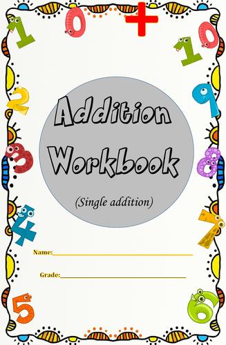 Addition Workbook(Single Addition) with Answer Key